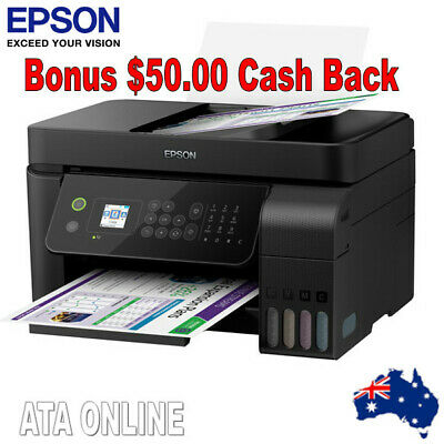 Epson Workforce EcoTank ET-4700 Wi-Fi M/F inkjet Printer + Wty + $50 Gift Card