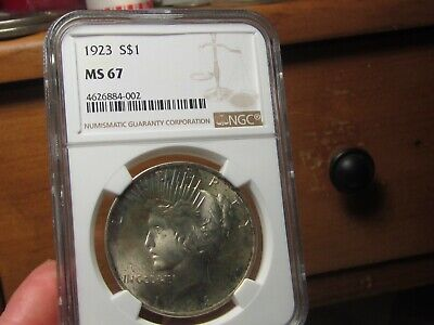 A Registry Gem  1923 Peace Dollar  Ngc Mint State 67  None Better At Ngc Or Pcgs
