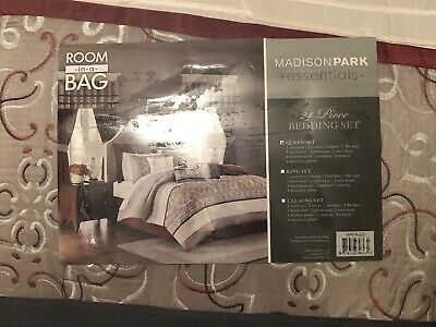 Delaney 24 Piece Room In A Bag By Madison Park Essentials With Curtains Sheets