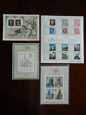 Four Stamp Sheets from Britain