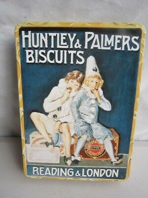 Vintage Pierrot Clown Huntley & Palmers Biscuit Tin ~ Reading & London England