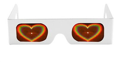 Love Heart 3D Diffraction Firework Glasses For Parties, Festivals
