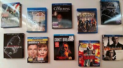 Blu-ray Movie Lot! Some with slipcovers, digital codes, all discs, no scratches!