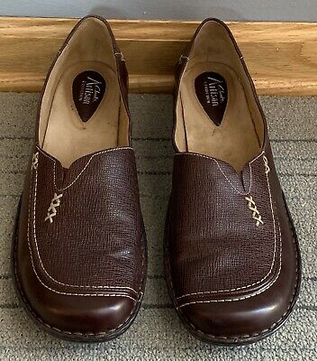 66cb7d26b8a0d Clarks Artisan Collection Brown Stitch Casual Slip On Loafers Women's Size  12 M