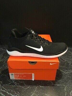 a9760d834a16d Nike Mens Free RN 2018 Running Shoes 942836 001 Black White Size 11.5