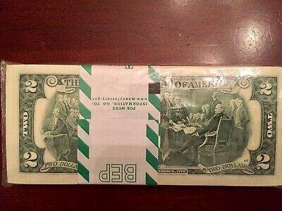 WOW 2013 Star Pack $2 Two Dollar Bill 100 Consecutive,Uncirculated . LOW SERIAL
