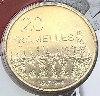 2016 Australian 20 Cent Unc Ram Carded Coin - Fromelles - Legend Of The Anzacs