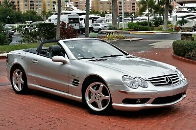 2004 Mercedes-Benz SL-Class SL 55 AMG 19K Miles ILVER METALLIC ONLY 19K MILES SERVICED CLEAN CARFAX AMG