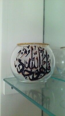ISLAMIC VASE AYAT QURAN Candle Holders One Hand Painted Tea Light dinner light