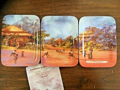 """DARCY DOYLE """"NO BALL"""" SERIES OF 3 COLLECTOR PLATES by WINDOR FINE CHINA"""