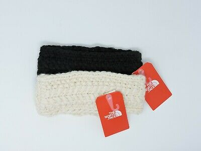 The North Face TNF Cable Minna Earband Black, Gray  Vintage White NEW
