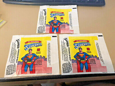 Superman The Movie S2 - 10x Wax Pack Card Wrappers - 1978 Topps Slight Tears !!!