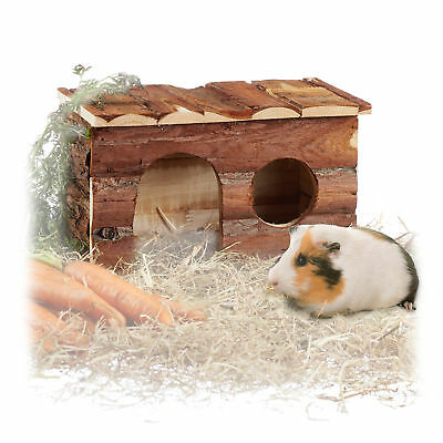 Wooden Natural Small Animal House, Big Rodent Nest, Guinea Pig Hutch