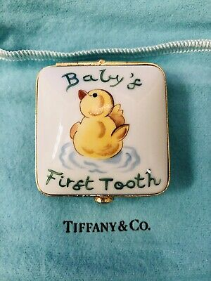 Tiffany & Co Baby's first tooth Keepsake RARE ITEM Never Used