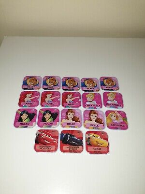 Woolworths Disney Words Tiles Collectables - Cinderella & Cars