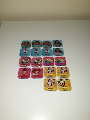 Woolworths Disney Words Tiles Collectables - Moana, Toy Story & Mickey Mouse