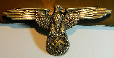 WWII Waffen SS Officer's Eagle cap badge