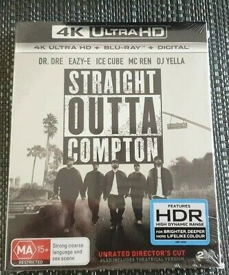 Straight Outta Compton 4K (Blu-ray, 2018, 2-Disc Set) Brand new and Sealed