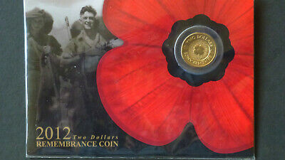 2012 $2 Remembrance Day Gold Poppy Carded Coin