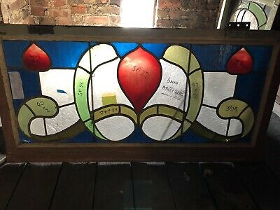 Antique Stained Glass Window Victorian/Edwardian