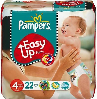 Pampers Easy Up Pants Premium Protection Size 4, 8-15kg Maxi Pack of 22 Nappies