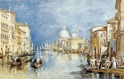 The Grand Canal Venice Poster Print by Joseph M.W. Turner (24 x 36)