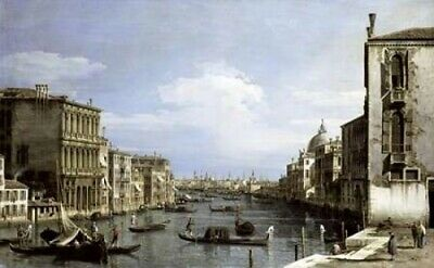 Grand Canal Venice From Camp0 Di San Vio Poster Print by  Canaletto (24 x 36)