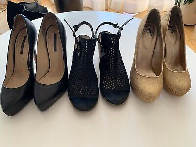 Women's Size 8.5 shoes assorted styles and colours. 3 Pairs.