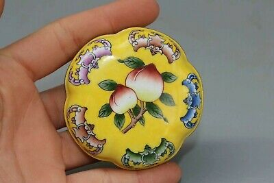 China exquisite antiques collectible enamel cloisonne Ms with compact box