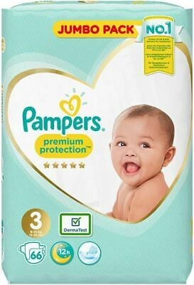 Pampers Size 3 Premium Protection Nappies 66 Jumbo Packs