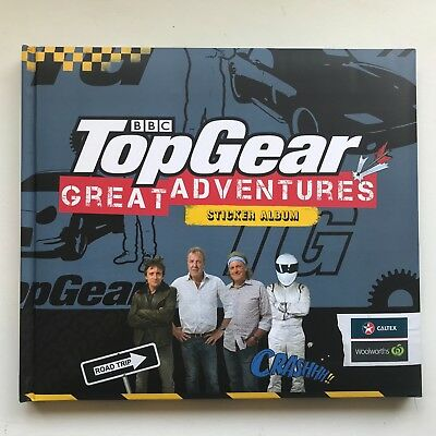 Top Gear Sticker Album Book Woolworths Collection