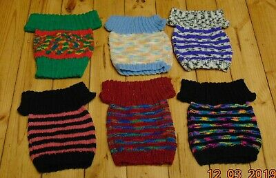 6 Baby Girl Jumpers Hand Knitted Wool Woolen Multicolour Aged 1 Year 12 Months