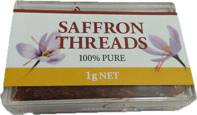 100% Pure Saffron Threads Premium Quality 1g, Chef's Choice, Free Post