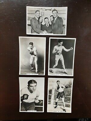 5 x CARDS 1935 CHAMPION BOXING JOHNNY KING KID BERG SPORTING EVENTS & AND STARS