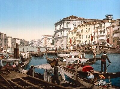 Grand Canal of Venice 1890s Rolled Canvas Art - Science Source (36 x 24)