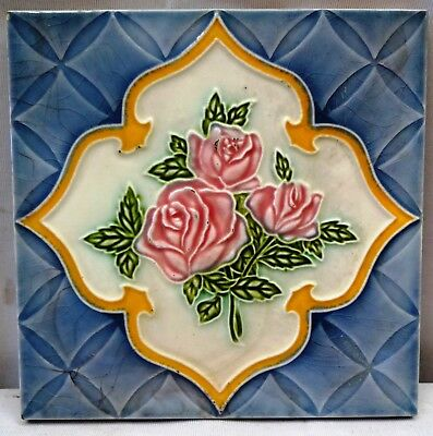 Antique Tile Japan Vintage Majolica Ceramic Porcelain Collectibles Art Nouveau