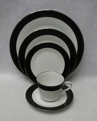 NORITAKE china SHARON 6883 pattern 5-piece Place cup saucer dinner salad bread
