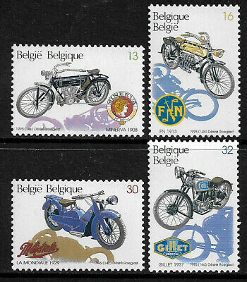Belgium #1594-7 Mint Never Hinged Set - Motorcycles