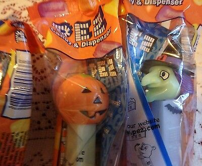 Pez Candy Dispenser, Lot of 4, New in Cellophane Packaging, Halloween