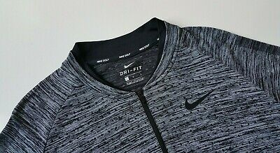 New Nike Seamless 1/2-Zip Long Sleeve Pullover Golf Top, 892221-012, M~XL