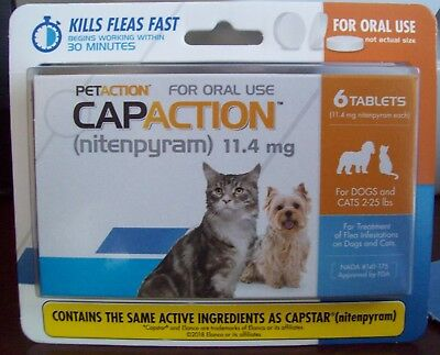 PETACTION CAPACTION 6 tablets For cats 2-25 lb *compare to capstar