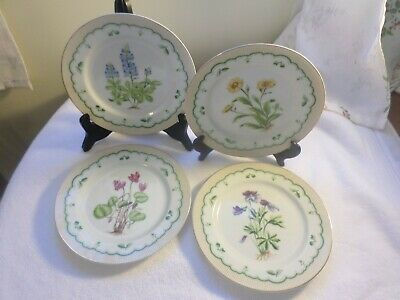 set of 4  assorted georges briard victorian gardens salad plates   signed
