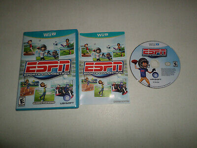 ESPN Sports Connection  COMPLETE - NINTENDO Wii U - FAST SHIPPING 216