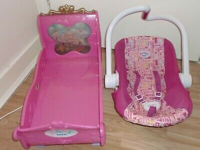 Baby Born Princess Bed & Baby Born Car Seat/Carry Chair
