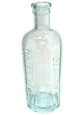 Antique Aqua Glass Atwood's Jaundice Bitters Remedy Medicine Bottle