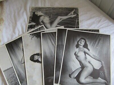 Betty (Bettie) Page by Bunny Yeager Set of 7 Vintage 11 x 14 photos