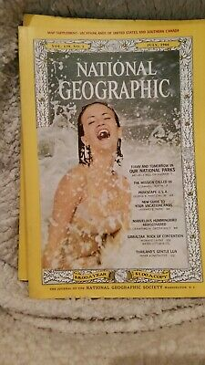 National geographic magazine lot July 1966 June 1966 January 1967.