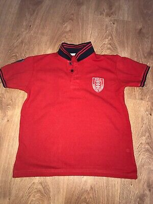 Hull KR rugby Polo Top Age 9/10 Hull KR Kids Red Polo Top