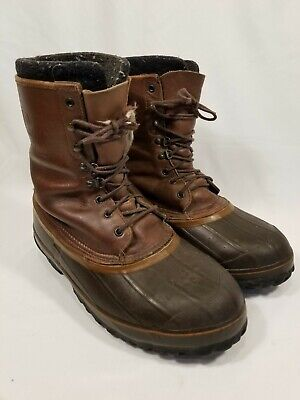 649419ddd26 LACROSSE ICEMAN BROWN Leather Winter Rubber Work Boots Mens Size 11 Made in  USA