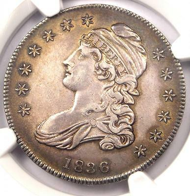 1836 Capped Bust Half Dollar 50C O-101a - NGC AU Details - Rare Certified Coin!